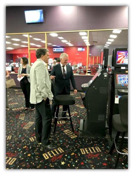 John Oliver, MP for Oakville visiting Delta Bingo & Gaming